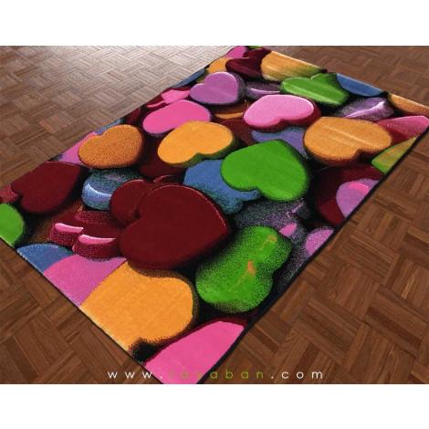 فرش فانتزی چهار متری مدل قلب