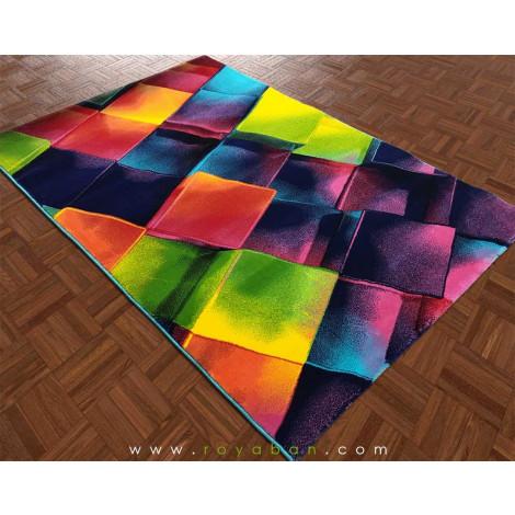فرش سه بعدی 4 متری مدل مکعب کد 1356