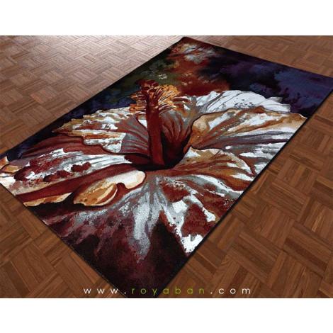 فرش مدرن چهارمتری مدل گل