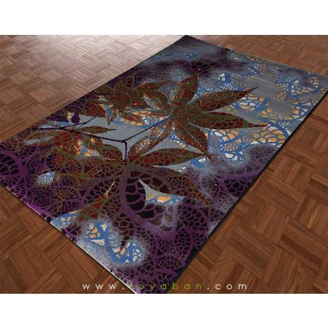 فرش مدرن طرح برگ
