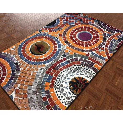فرش سه بعدی 4 متری مدل سنگفرش