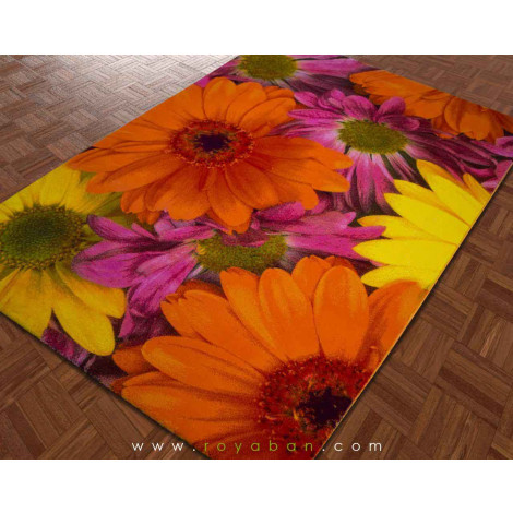 فرش سه بعدی 4 متری ساوین مدل گلسار