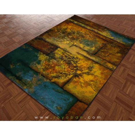 فرش سه بعدی 1.5 متری ساوین مدل گاردن