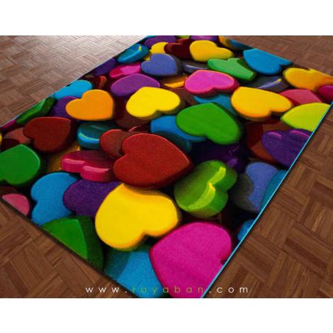 فرش سه بعدی 4 متری ساوین مدل قلب