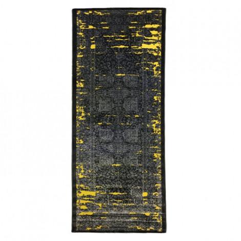 فرش راهرویی کد 2013 رنگ زرد و نقره ای