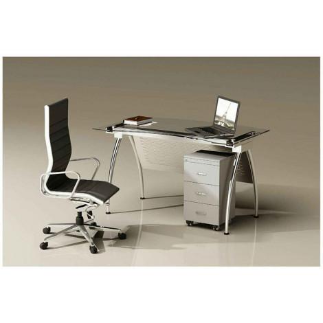 میز کارمندی قابل مونتاژ مدل TF120 کروم
