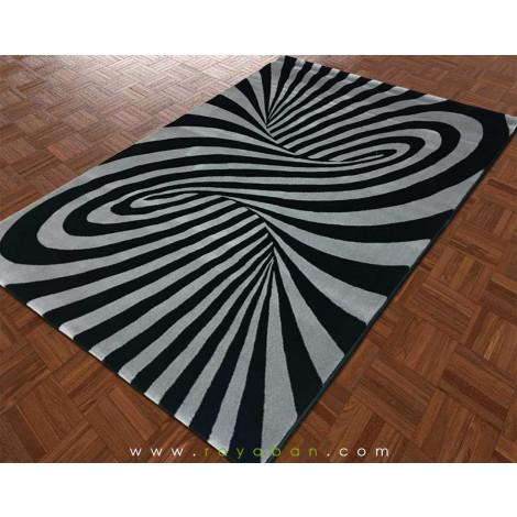 فرش مدرن 1.5 متری ساوین مدل تورنادو