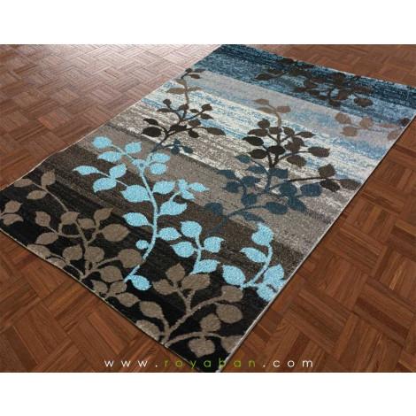 فرش مدرن طرح برگ چهار متری