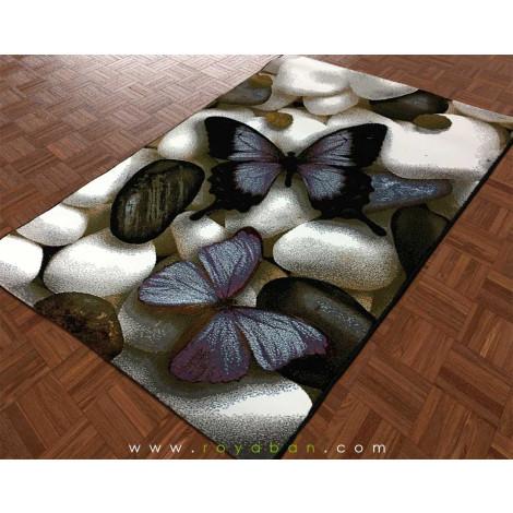 فرش فانتزی 1.5 متری طرح پروانه کد 402