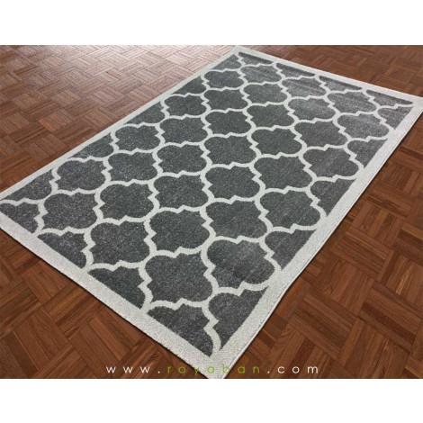 فرش مدرن طرح مراکشی رنگ توسی