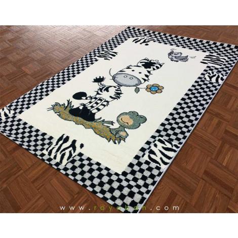 فرش کودک طرح گورخر 1.5 متری کد 4057