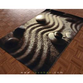 فرش سه بعدی 1.5 متری مدل باغ ذن