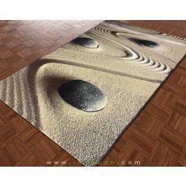 فرش سه بعدی 1.5 متری مدل باغ شنی