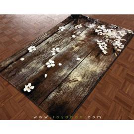 فرش فانتزی 4 متری مدل شکوفه