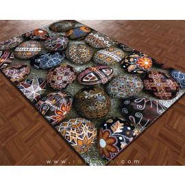 فرش سه بعدی 4 متری مدل تخم مرغ رنگی