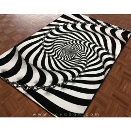 فرش سه بعدی 1.5 متری مدل مارپیچ