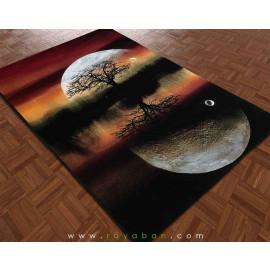 فرش فانتزی 4 متری مدل ماه