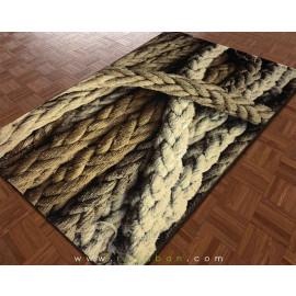 فرش سه بعدی 4 متری مدل طناب