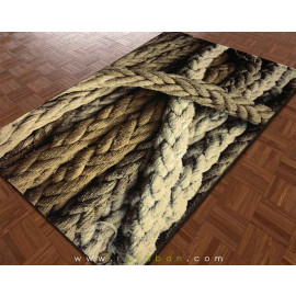فرش سه بعدی 1.5 متری مدل طناب