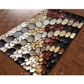 فرش سه بعدی 4 متری مدل سنگریزه