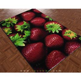 فرش سه بعدی 1.5 متری مدل توت فرنگی