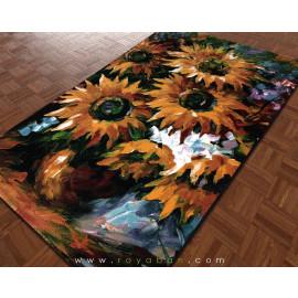 فرش فانتزی 4 متری مدل آفتابگردان