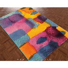 فرش سه بعدی 4 متری ساوین مدل آبرنگ