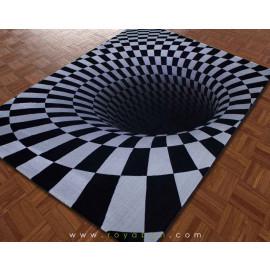فرش سه بعدی 1.5 متری ساوین مدل سیاهچاله