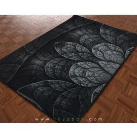 فرش سه بعدی 1.5 متری ساوین مدل گلبرگ