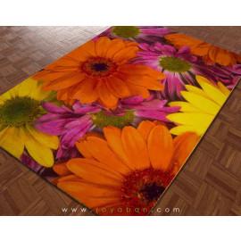 فرش سه بعدی 1.5 متری ساوین مدل گلسار