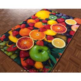 فرش سه بعدی 1.5 متری مدل میوه
