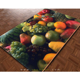 فرش سه بعدی 4 متری مدل میوه های سبز