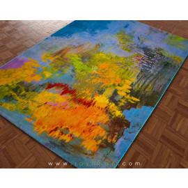 فرش سه بعدی 1.5 متری ساوین مدل برکه