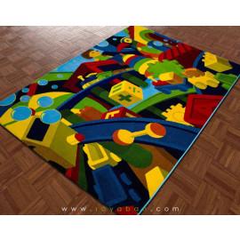 فرش سه بعدی 4 متری مدل لگو