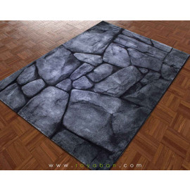 فرش سه بعدی 4 متری ساوین مدل صخره
