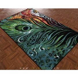 فرش فانتزی 1.5 متری مدل پر طاووس