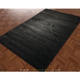 فرش سه بعدی چهارمتری مدل چوب