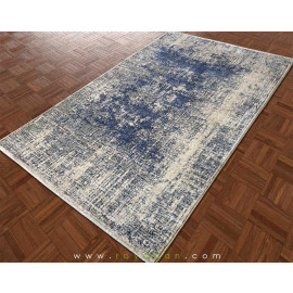 فرش فانتزی مدرن رنگ توسی و آبی