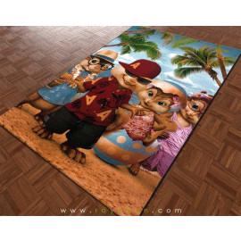 فرش اتاق کودک مدل آلوین و سنجابها