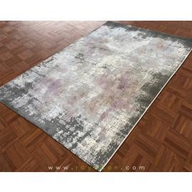 فرش فانتزی مدرن رنگ توسی و یاسی