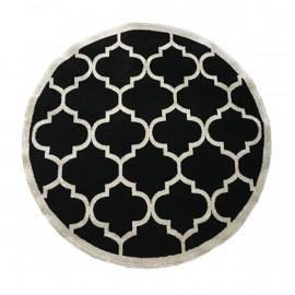 فرش طرح مراکشی مشکی