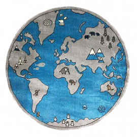 فرش گرد 1.5 متری مدل کره زمین