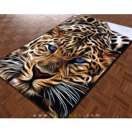 فرش فانتزی 1.5 متری مدل ببر