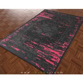 فرش وینتیج رنگ توسی و صورتی