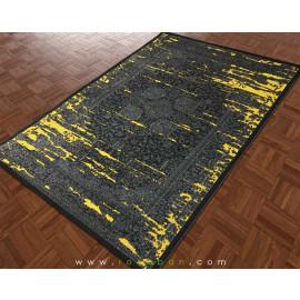 فرش وینتیج توسی و زرد