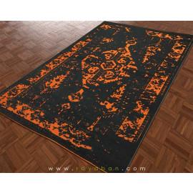 فرش وینتیج رنگ نارنجی و توسی