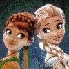 فرش کودک دخترانه السا و آنا کارتون فروزن
