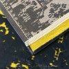 فرش وینتیج رنگ زرد و خاکستری